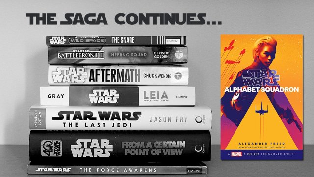The Saga Continues: Alphabet Squadron, Image: Sophie Brown, Cover: Century