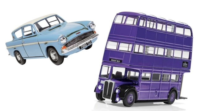 Ford Anglia and Knight Bus Models, Image: Corgi