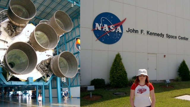 Sophie Brown at the Kennedy Space Center, Images: Sophie Brown
