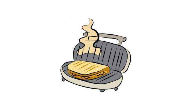 Panini press for hotel cooking