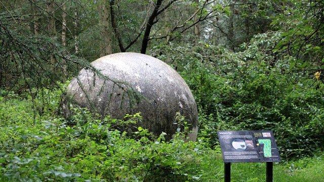 The Meteorite in Jodrell Bank Gardens, Image: Sophie Brown