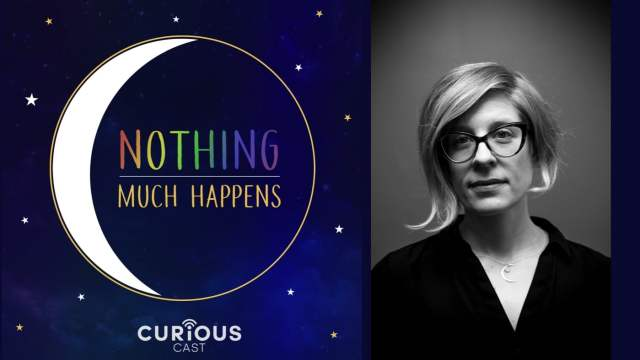 Logo and Headshot of 'Nothing Much Happens' podcast