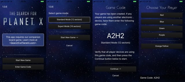 Setting up a Game on the App, Screenshots: Sophie Brown via App by Foxtrot Games
