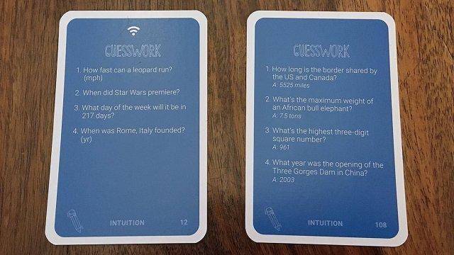 Guesswork Cards, Image: Sophie Brown