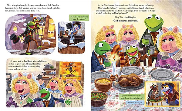 Pages of The Muppet Christmas Carol, Image: Insight Kids
