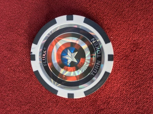 Turn coin in Marvel Fluxx