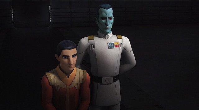 Ezra and Thrawn in Star Wars Rebels, Image: Disney