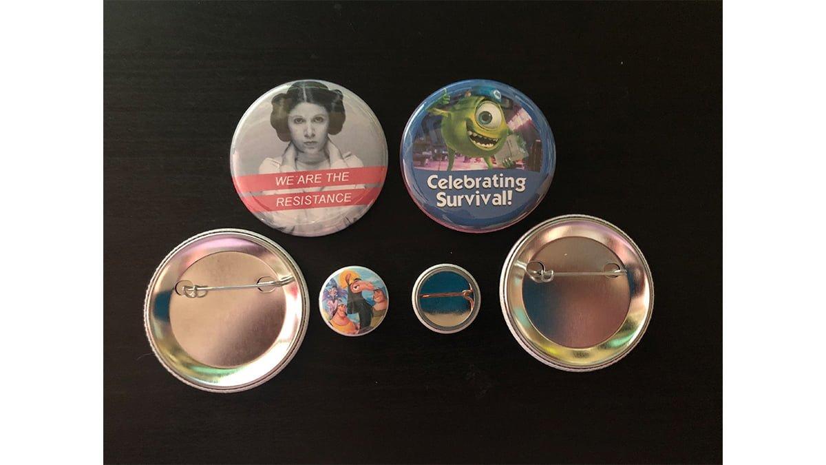 A few of my buttons. \ Image: Dakster Sullivan