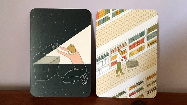 Finding Something Valuable, and Shopping Cards, Image Sophie Brown
