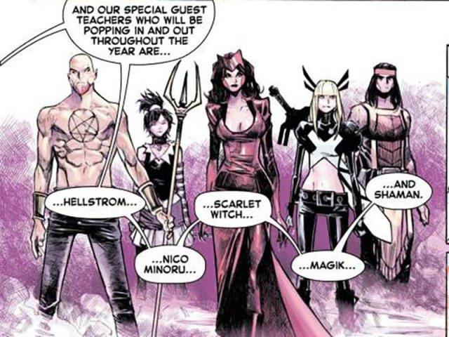 hellstrom, Nico Minoru, Scarlet Witch, Magik, Shaman
