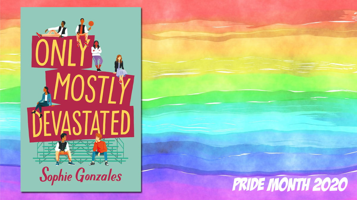 Pride Month Only Mostly Devastated, Background Image by Prawny from Pixabay, Cover Image St Martin's Press
