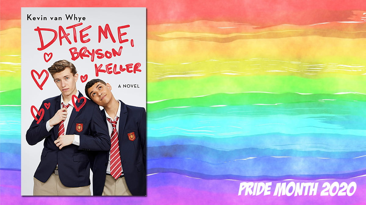 Pride Month Date Me, Bryson Keller Background Image by Prawny from Pixabay, Cover Image Random House