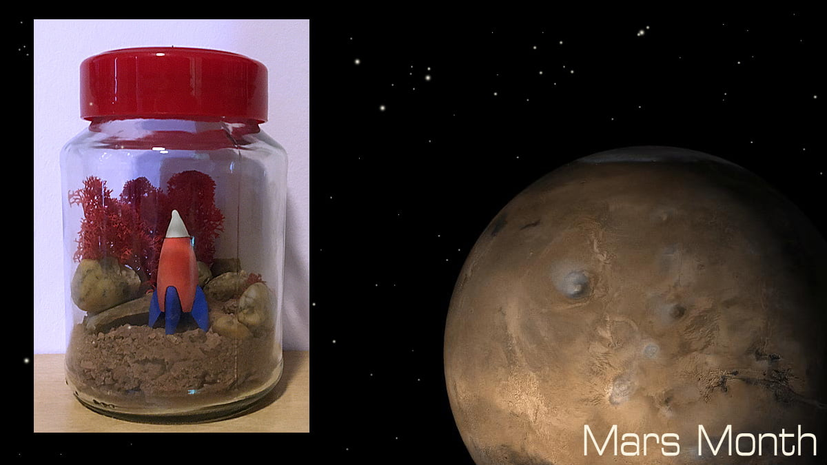 Mars Jar, Sophie Brown, Mars Image NASA