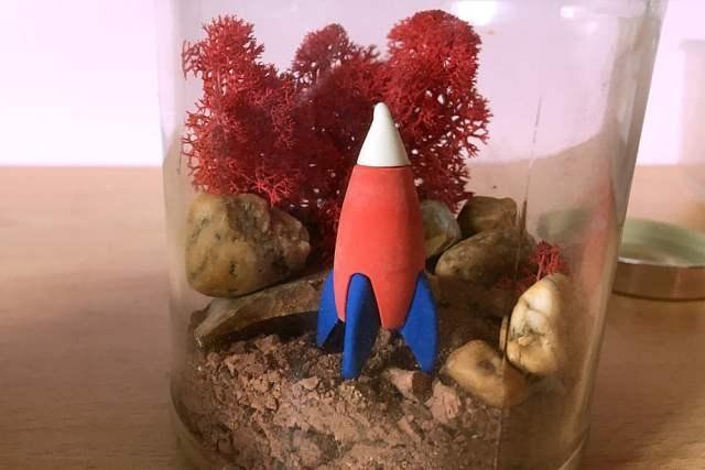 My Mars Jar Complete with Rocket, Image Sophie Brown