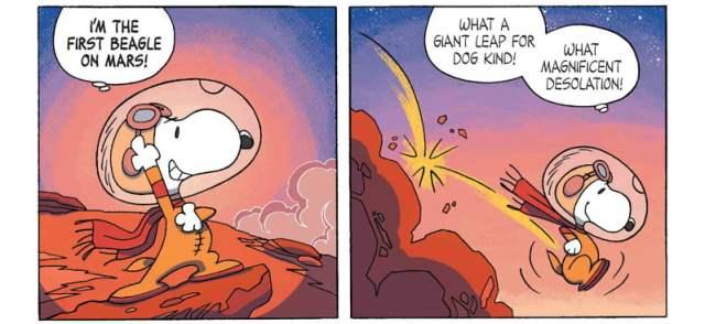 Snoopy Explores 'Mars', Image Boom