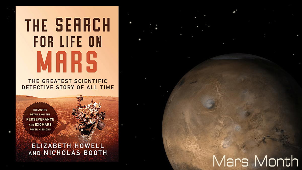 The Search for Life on Mars, Cover Image Simon and Schuster, Mars Month, Mars Image NASA
