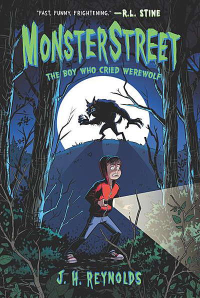 MonsterStreet 1, The Boy Who Cried Werewolf, Cover Image Katherine Tegen Books