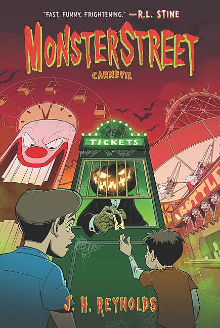 MonsterStreet 3, Carnevil, Cover Image Katherine Tegen Books