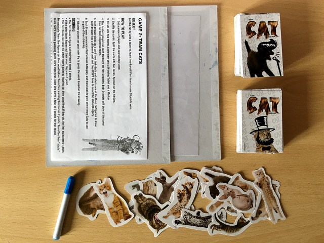 Components of a Well-Used Copy of The Cat Game, Image Sophie Brown
