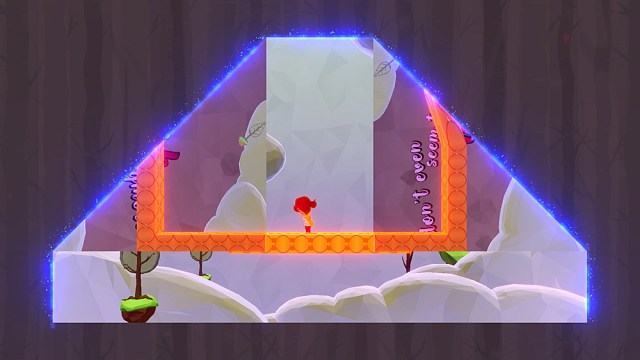 A Level that Has Been Folded from the Top Two Corners, Revealing Paths from the Reverse Side, Screenshot Sophie Brown