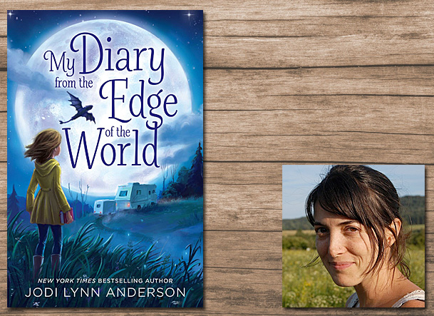 My Diary From the Edge of the World Cover Image Aladdin, Author Image Jodi Lynn Anderson