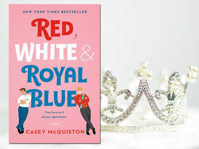 Red, White, and Royal Blue Cover by St Martin's Griffin, Background Image by Pexels from Pixabay