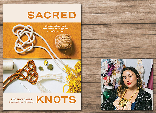 Sacred Knots Cover Image Roost Books, Author Image Lise Silva Gomes