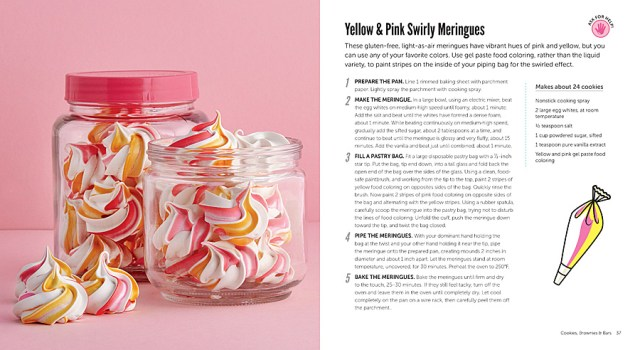 Yellow and Pink Swirly Meringues, Image Insight Editions