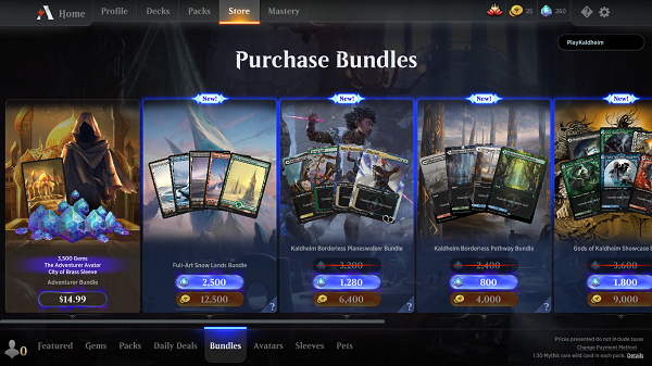 Magic: The Gathering Arena Store $.99 Bundle