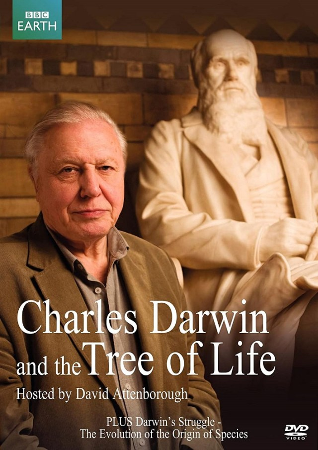 Cover image of BBC production 'Charles Darwin and the Tree of Life,' hosted by Sir David Attenborough
