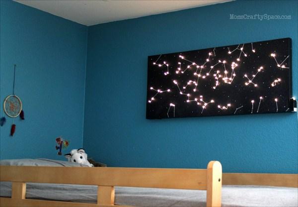 DIY Constellation Canvas Night Light