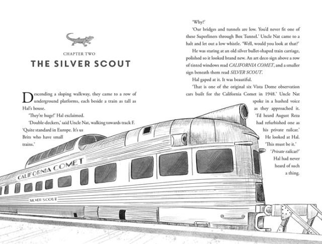 Kidnap on the California Comet Illustration, Image Pan Macmillan