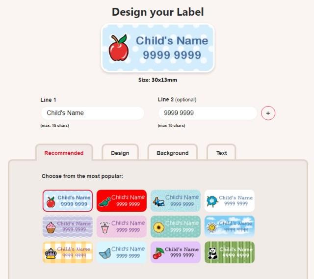 Label Design Screen, Screenshot: Sophie Brown