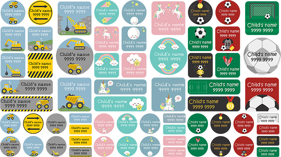 My Nametags Maxi Stickers Samples, Images My Nametags