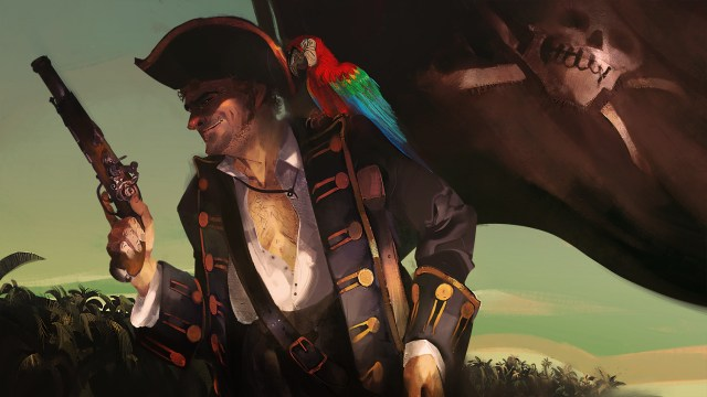 Artist impression of pirate from Treasure Island