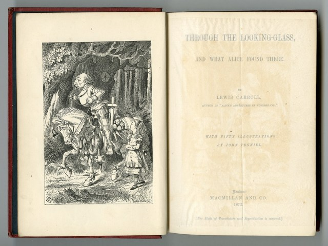 Image from 1st edition of Through the Looking Glass by Lewis Carroll