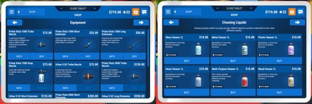 Shopping in Powerwash Simulator, Screenshots by Sophie Brown