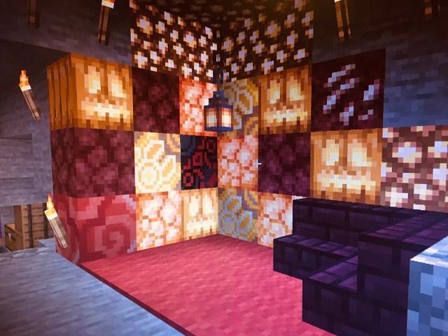 Minecraft lounge room