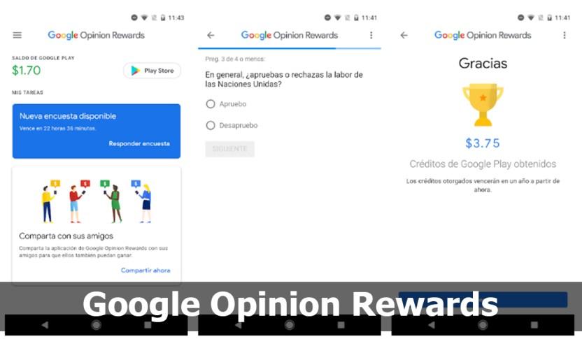 Google Opinion Rewards: encuestas rápidas para ganar dinero