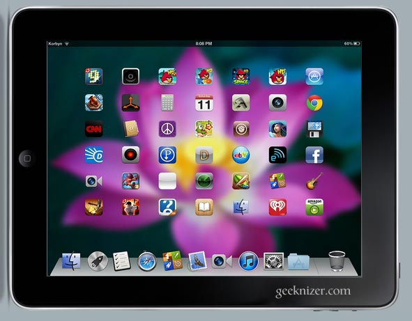 Get OS X Mountain Lion Theme on iPad, iPhone