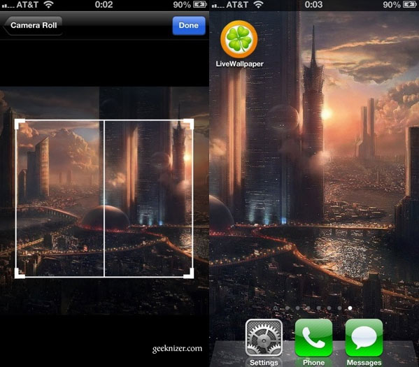 Set LiveWallpaper, Scrolling Wallpaper On IPhone