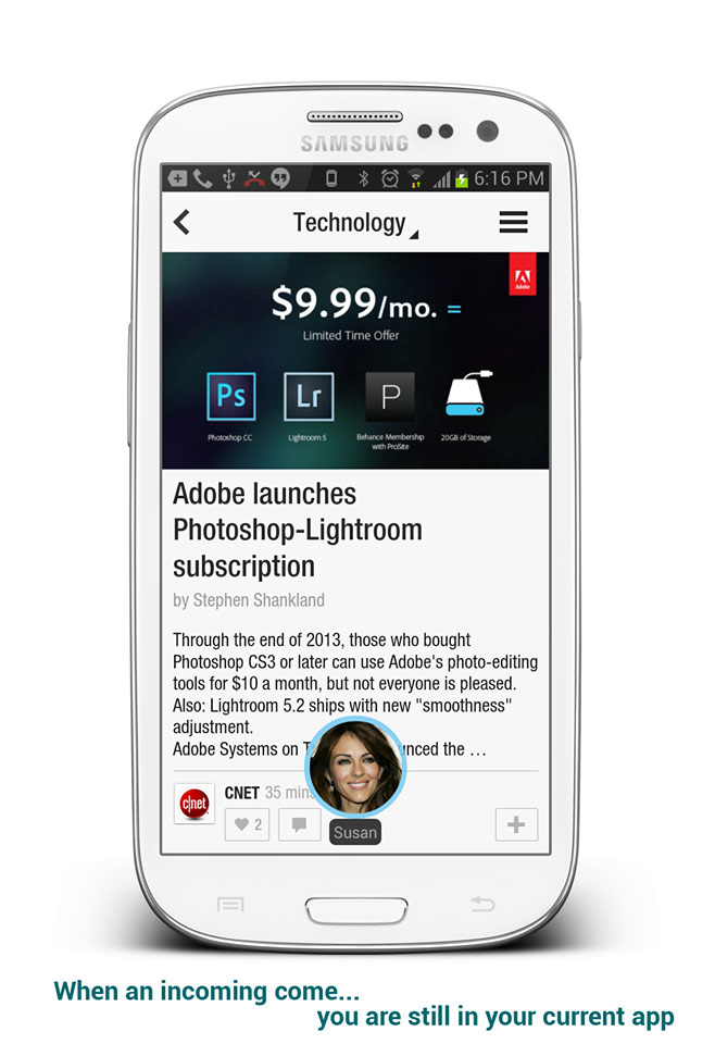 Incoming Call Floating Popout on Android [Multitasking]