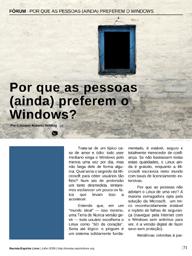 """Artigo: """"Por que as pessoas (ainda) preferem o Windows?"""""""
