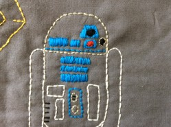 Star Wars R2D2 hand embroidery detail free printable