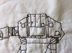 Star Wars AT-AT Walker hand embroidery body detail