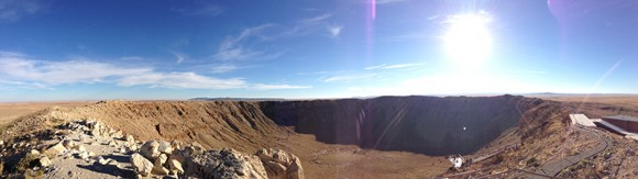 From the top observation deck at Meteor Crater