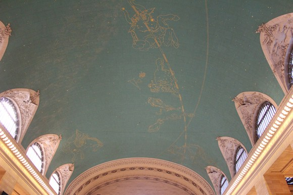The ceiling of Grand Central Terminal