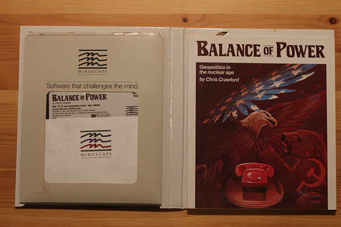 """Balance of Power"", PC version, circa 1985."