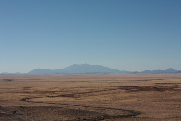 The road to Meteor Crater
