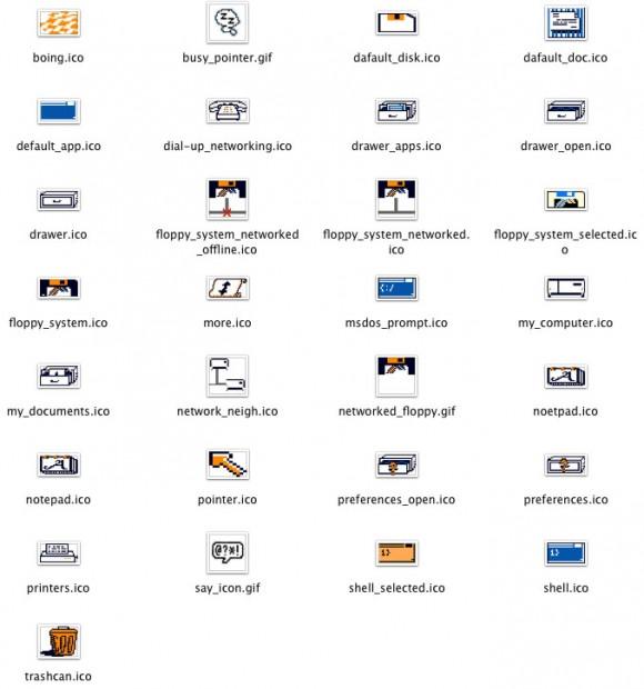 Amiga Workbench 1.3 icons